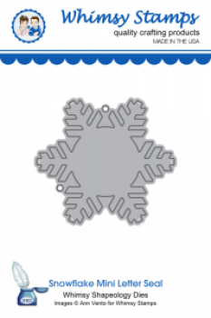 Whimsy Stamps - Stanzschablone Snowflake Mini Seal Die