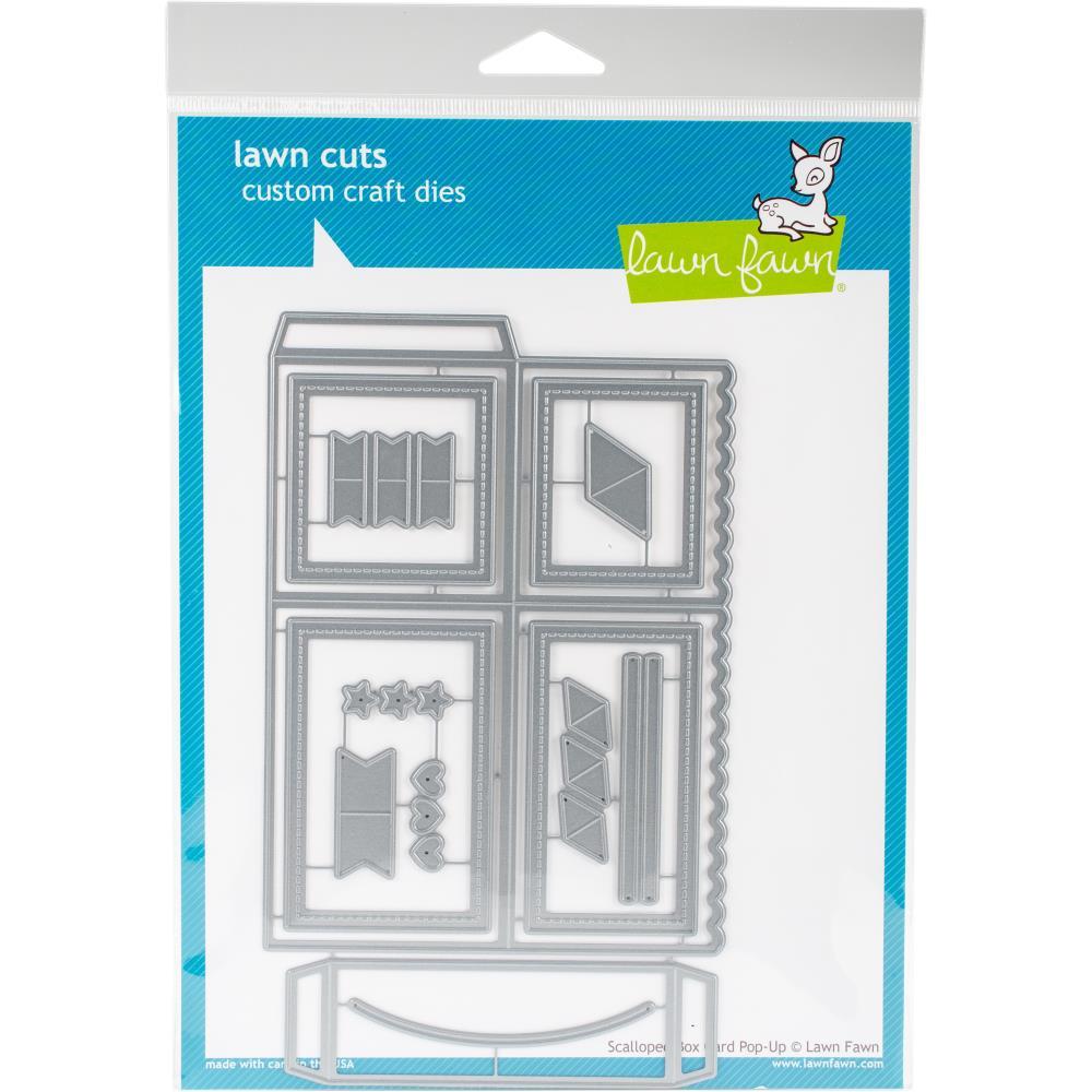 Papercrafts - Lawn Fawn - Stanzschablonen Set Scalloped Box Card pop ...