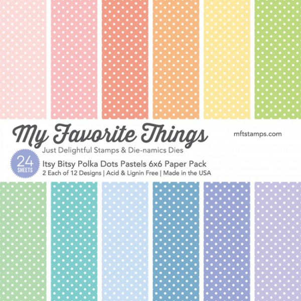 My Favorite Things - Itsy Bitsy Polka Dots Paper Pack 6x6""