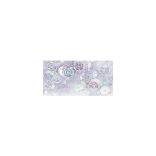Darice - Sequins White Iridescent 5mm