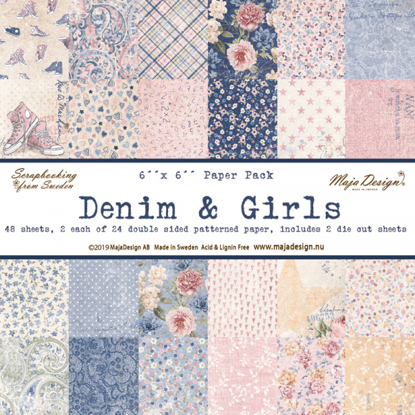 "Maja Design Papierblock Denim & Girls Paper Pack 6x6"" 48 Blatt"
