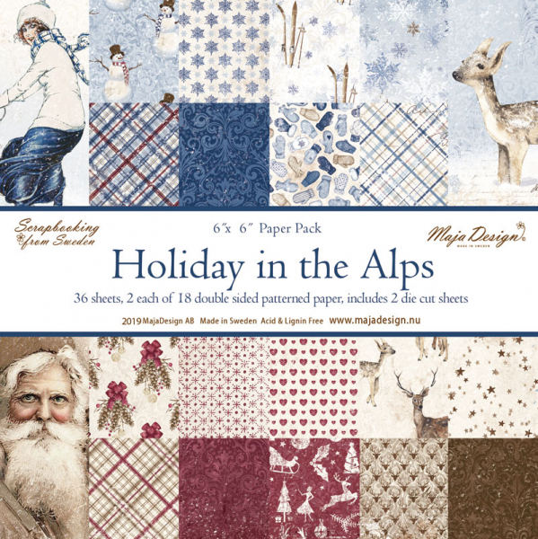 Maja Design Papierblock Holiday in the Alps Paper Pack 6x6