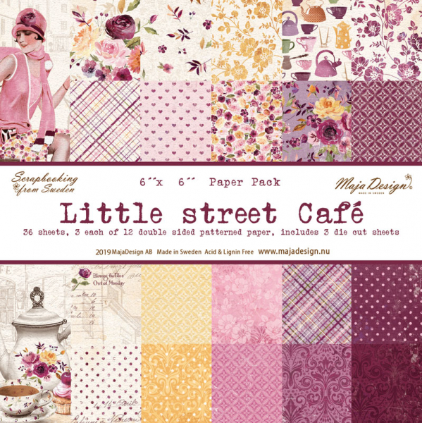 Maja Design Papierblock Little Street Café Paper Pack 6x6""
