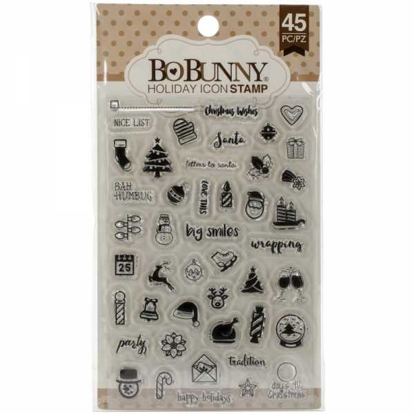 BoBunny - Clear Stamps Set Holiday Icon 4x6""