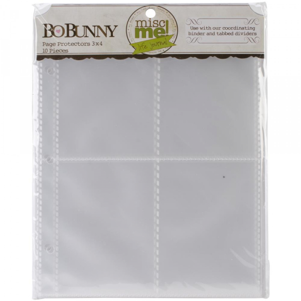 "Bo Bunny - Misc Me Page Protectors 3x4"" - 10 Stück"