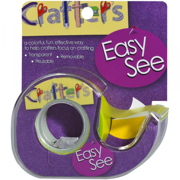 "Lee Products - Crafter's Easy See Removable Tape Yellow 0.5""X720"""