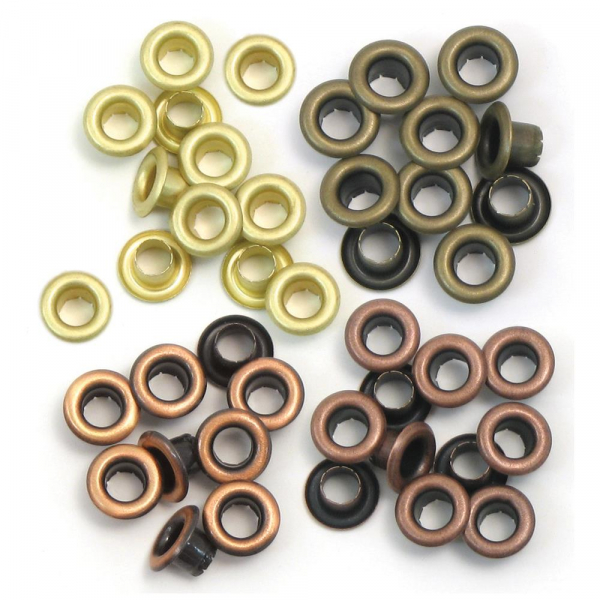 We R Memory Keepers - Standard Eyelets Warm Metal 60 Stück
