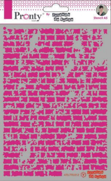 Pronty Crafts Kunststoffschablone Stencil Bricks A5