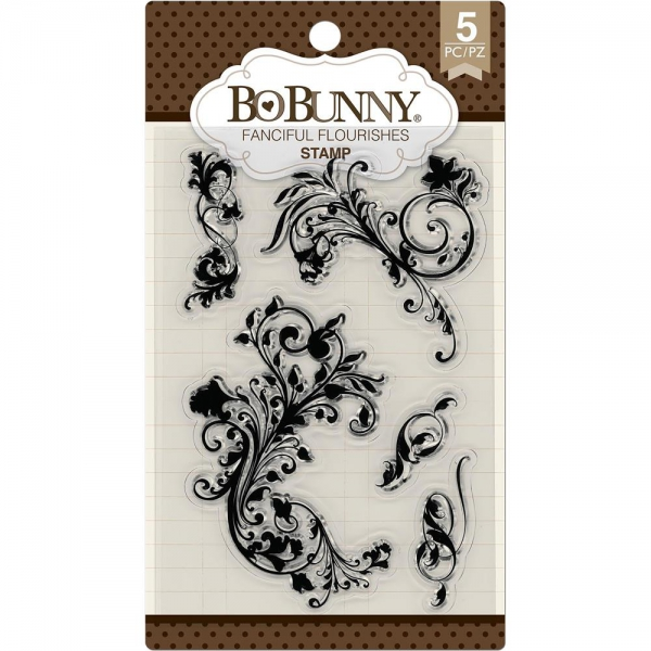 BoBunny - Clearstempel Set Fanciful Flourishes Stamps 4x6""