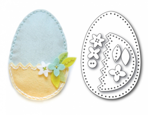 *NEU Memory Box - Plush Easter Egg Pocket Dies
