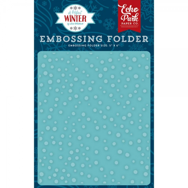 "Echo Park Paper - Embossing Folder Snow Day 5""X5.875"""
