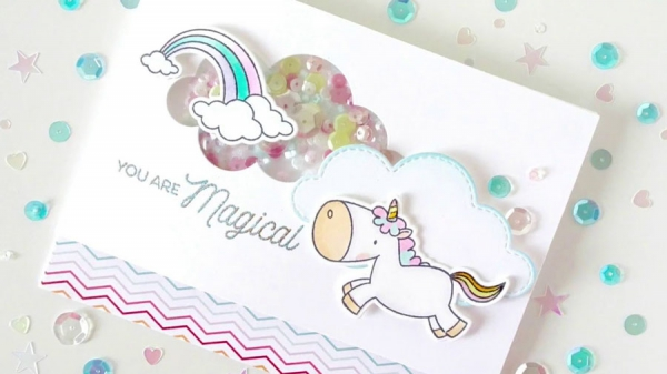 My Favorite Things - Clearstempelset Magical Unicorns 4x8""