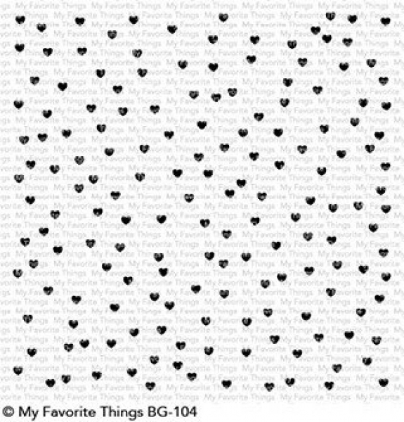 My Favorite Things - Clingstempel Scattered Hearts Background Stamp