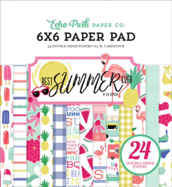 Echo Park Paper - Papierblock Best Summer Ever 6x6""