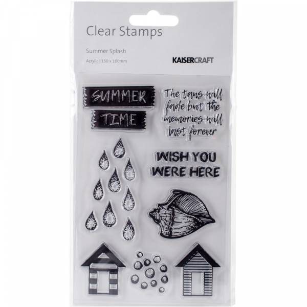 Kaisercraft - Clearstempel Set Summer Splash 4x6""