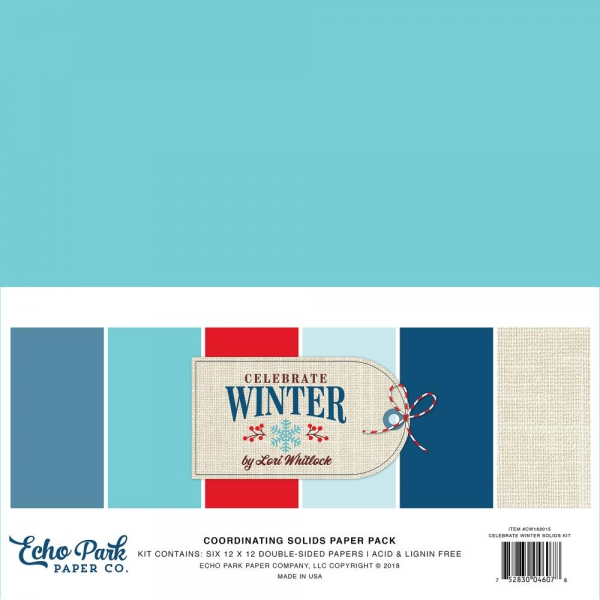 Echo Park Paper - Papierkit Celebrate Winter Solids Kit 12x12""