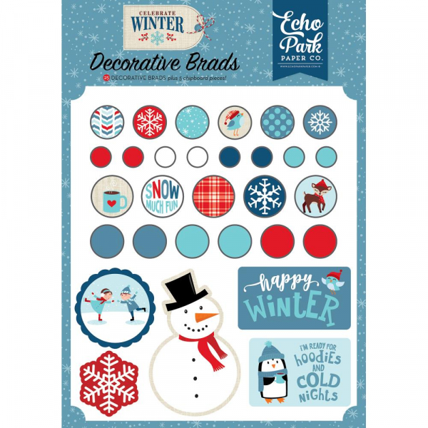 Echo Park Paper - Celecrate Winter Decorative Brads