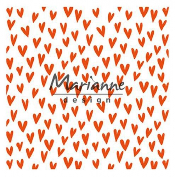 Marianne Design Prägeschablone Trendy Hearts