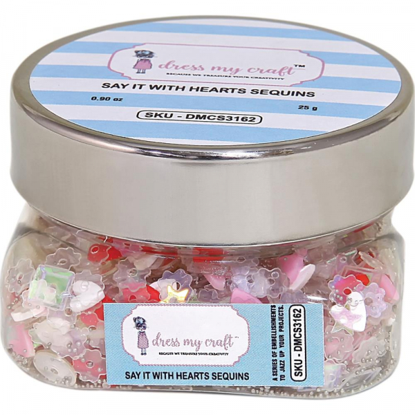Dress My Crafts - Paillettenmix Say it with Hearts Sequins 25g
