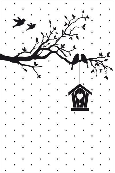 Nellie's Choice Prägeschablone New Home Embossing Folder 10.5x15.0cm