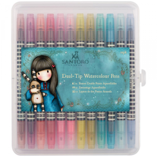 Docrafts - Aquarellstifte Santoro Gorjuss Dual-Tip Watercolour Pens Brights 12 Stück