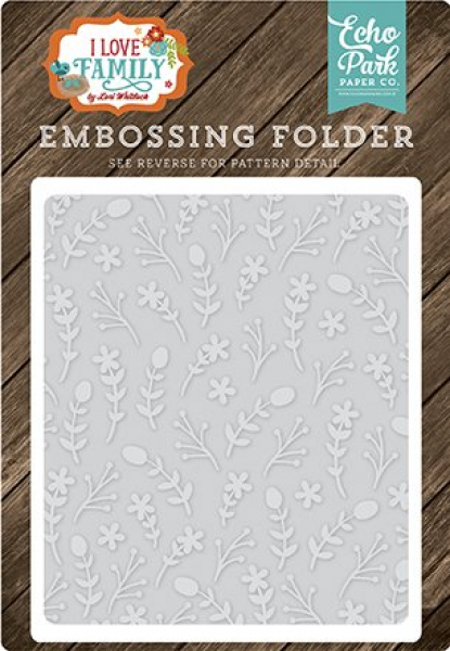 Echo Park Paper - Prägeschablone Floral Stem Embossing Folder