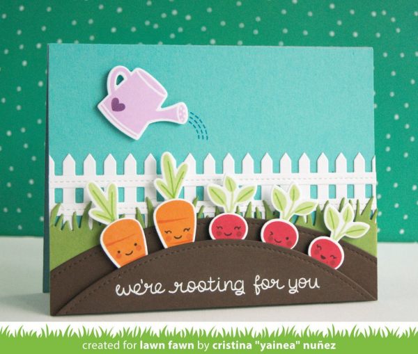 Lawn Fawn - Clearstempelset und Stanzen Rooting For You Combo