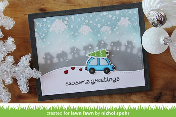 Lawn Fawn - Clearstempelset Home for the holidays Clear Stamps