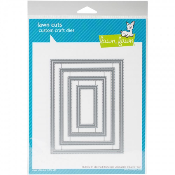 Lawn Fawn - Stanzschablonenset Outside In Stitched Rectangle Stackables Dies