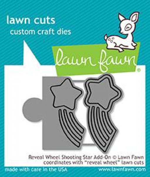 Lawn Fawn - Stanzschablone Reveal Wheel Shooting Star Add-On
