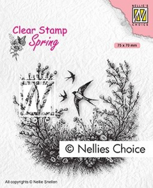 Nellie's Choice Clearstempel Spring is in the air 7.5x7.0cm
