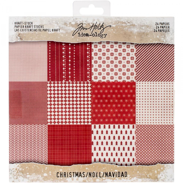 "Tim Holtz - Papierblock Tim Holtz Idea-ology Kraft Stock Christmas 8x8"" 24 Blatt"