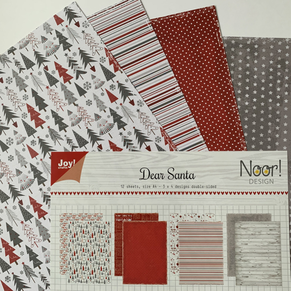 Joy! Crafts - Papierblock Noor Design Dear Santa A4