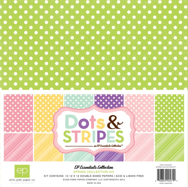 Echo Park Paper - Spring Collection Kit Dots & Stripes 12x12""