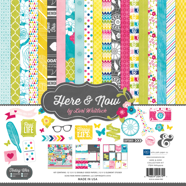 Echo Park Paper - Here & Now Collection Kit 12x12""