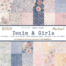 "Maja Design - Scrapbookingpapierblock Denim & Girls Paper Pack 6x6"" 48 Blatt"