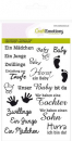 CraftEmotions - Clearstamps Set Text Baby