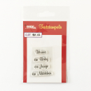 Crealies - Clearstempel Set Text Baby 02