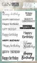 COOSA Crafts - Clearstempelset A6 Birthday Wishes