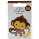 Doodlebug Design - Doodle-Pops 3D Sticker Monkey Mike
