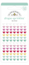 Doodlebug Design Stickers Lots of Love Adhesive Shape Sprinkles