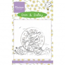 Marianne Design - Don & Daisy Clear Stamp Daisy Scooting