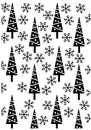 Nellie's Choice - Prägeschablone Pine-trees & Snowflakes