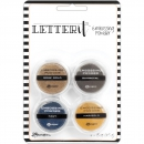 Ranger - Letter it Embossing Powder Set Metallics