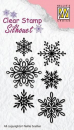 Nellie's Choice - Clearstempelset Snowflakes