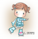C.C. Designs - Cling Stamp Swiss Pixie Skating Lucy